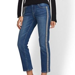 NY & Co | High Rise Straight Crop Jeans Size 6